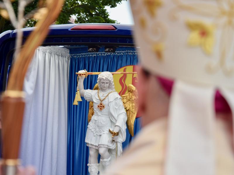 Zakończenie peregrynacji Figury św. Michała w diecezji włocławskiej